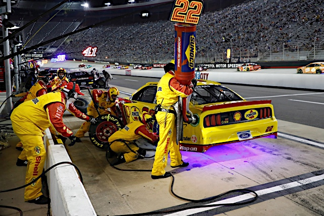 July 15 , 2020: #22: Joey Logano, Team Penske, Ford Mustang Shell Pennzoil during the Nascar All-Star race at the Bristol Motor Speedway  in Bristol TN ,  .  .   .  (HHP/Andrew Coppley)