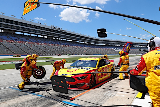 July 19,  2020:      #22: Joey Logano, Team Penske, Ford Mustang Shell Pennzoil   during the OíReilly Auto Parts 500 at Texas Motor Speedway in Ft Worth Tx. (HHP/Harold Hinson)