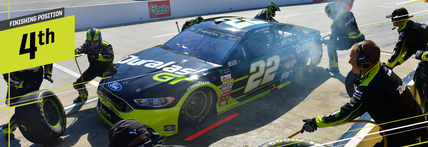Logano Finishes Fourth In Martinsville